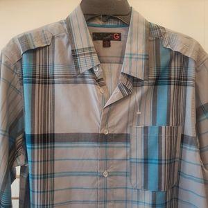 Men's GUESS Button Down Short Sleeve Shirt